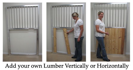 Insert your own lumber into horse stalls.
