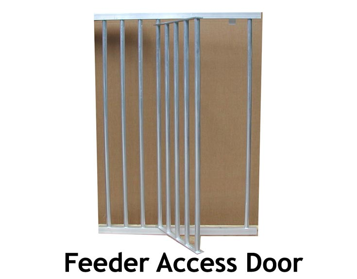 Feeder Door for Horse Stall Grill