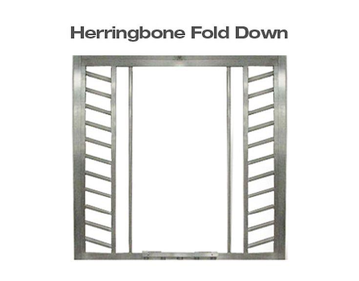 Herringbone Fold Down Panel Horse Stall Door Top