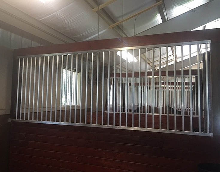 Horse Stalls Divider Grill Package