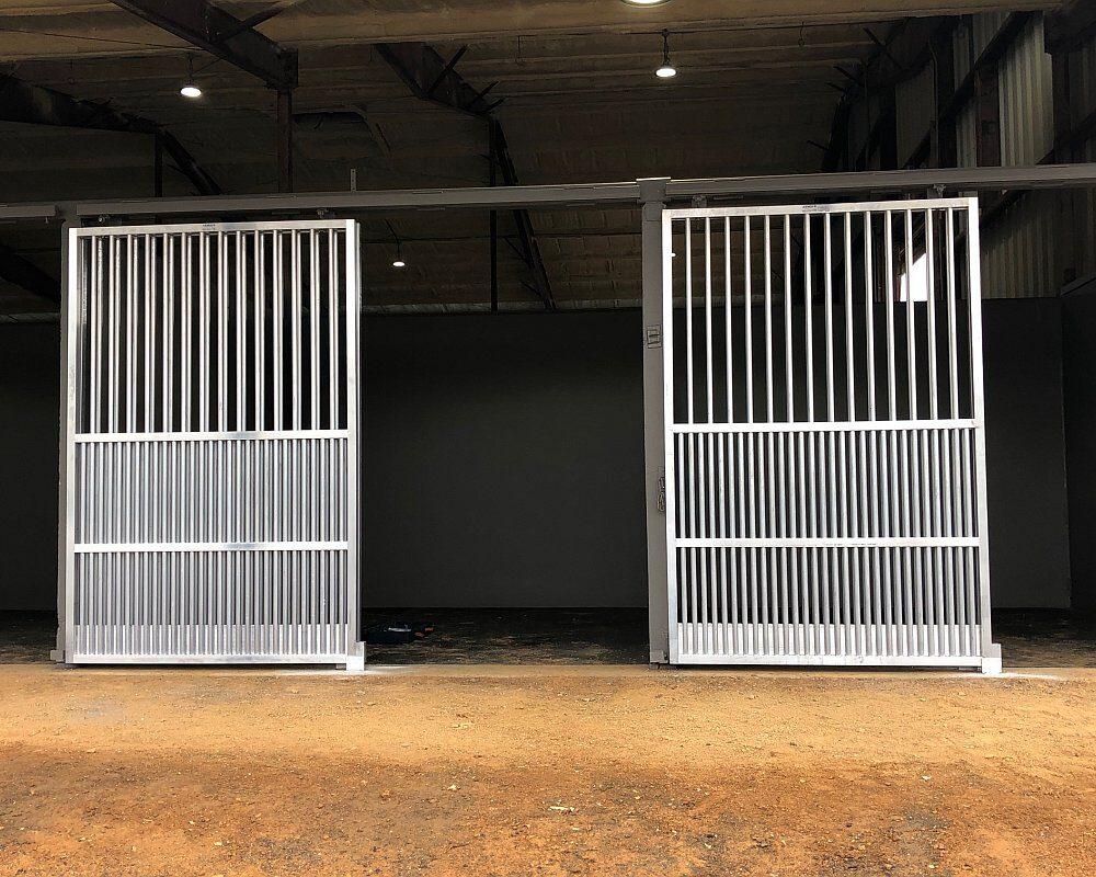 Aluminum Coolbreeze Horse Stalls Doors.