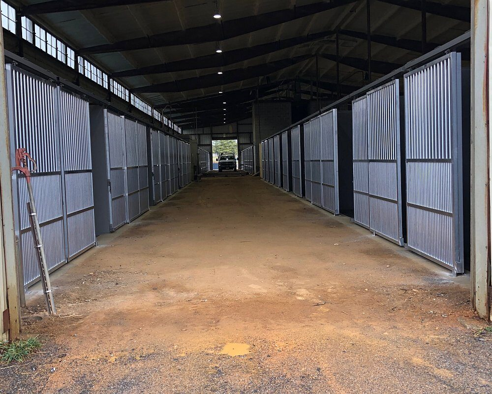 Aisle of Horse Stalls at Virginia Horse Center.