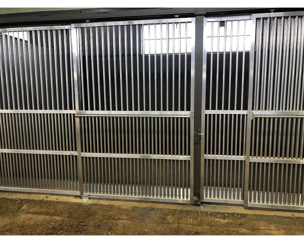 Coolbreeze Horse Stall Front with Sliding Door.