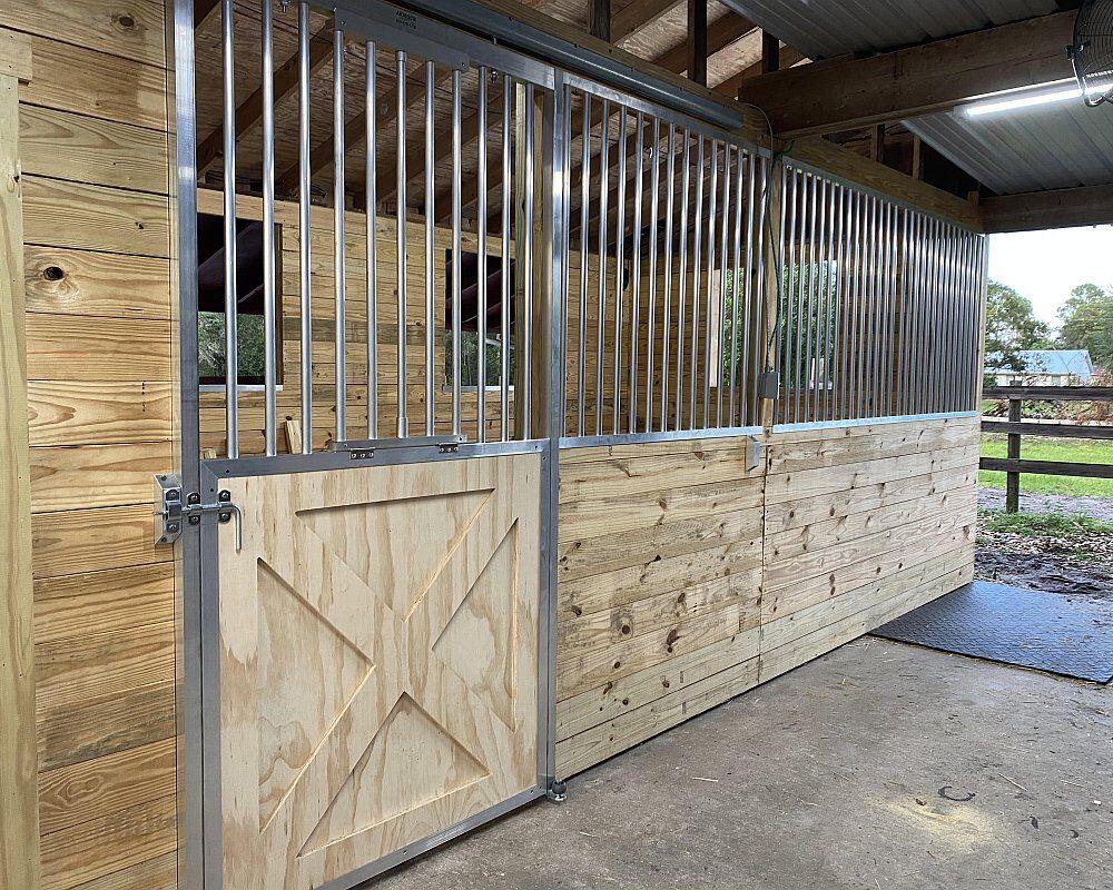 Crossbuck Sliding Stall Doors