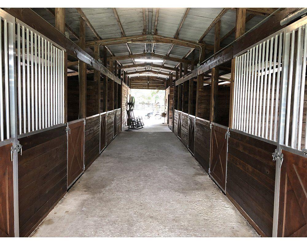 Crossbuck Sliding Horse Stalls Doors & Aluminum Horse Stall Front Grills.