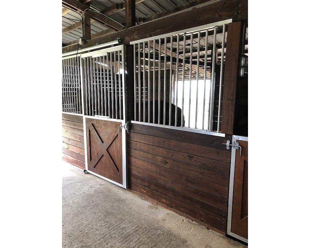 McCutcheon Horse Barn, Crossbuck Sliding Doors.