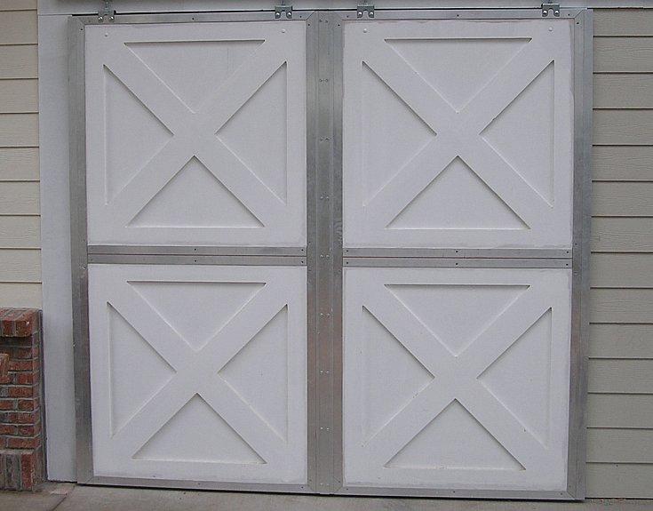 Astragal between gap of two not-split double dutch sliding doors.