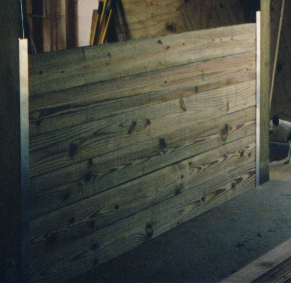 Stall Front Lumber Wall