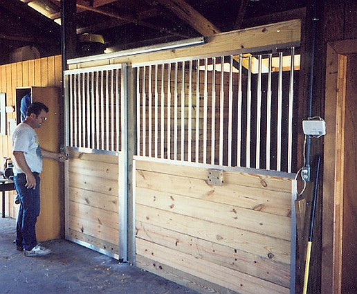 Horse Stall Front built with Receiver Channels.